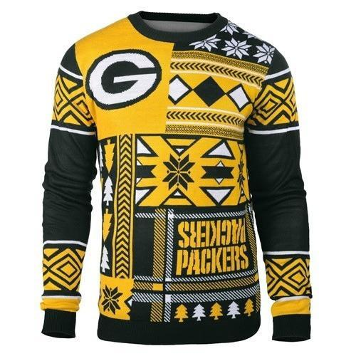 green bay packers patches ugly christmas sweater 1
