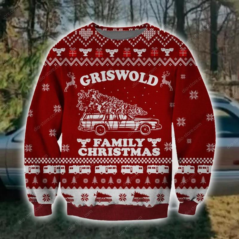griswold family christmas all over printed ugly christmas sweater 5
