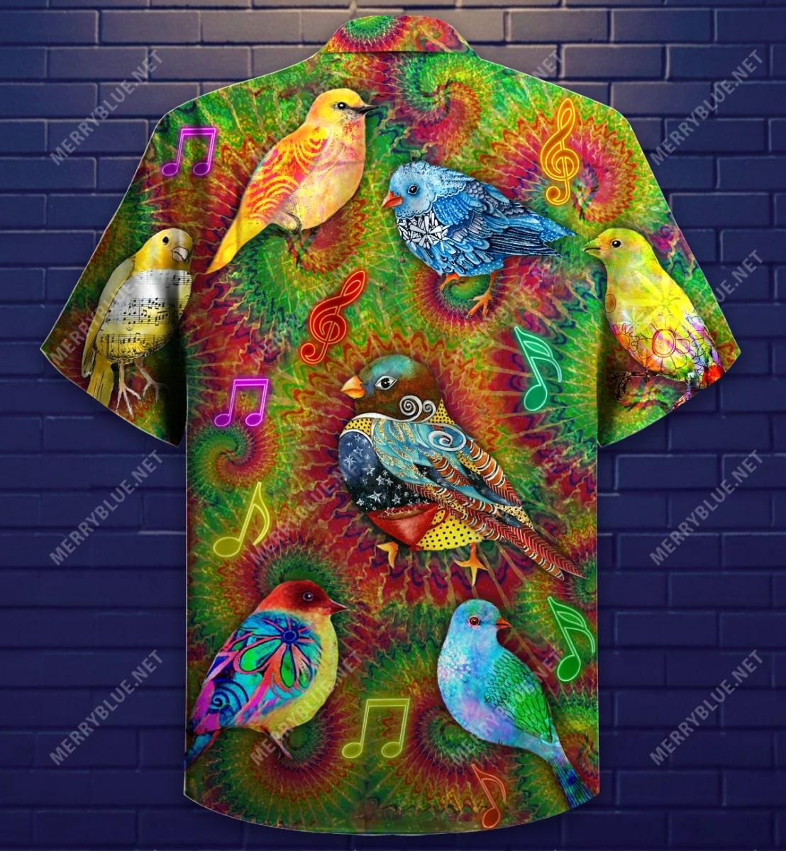 groovy birdy colorful all over printed hawaiian shirt 5