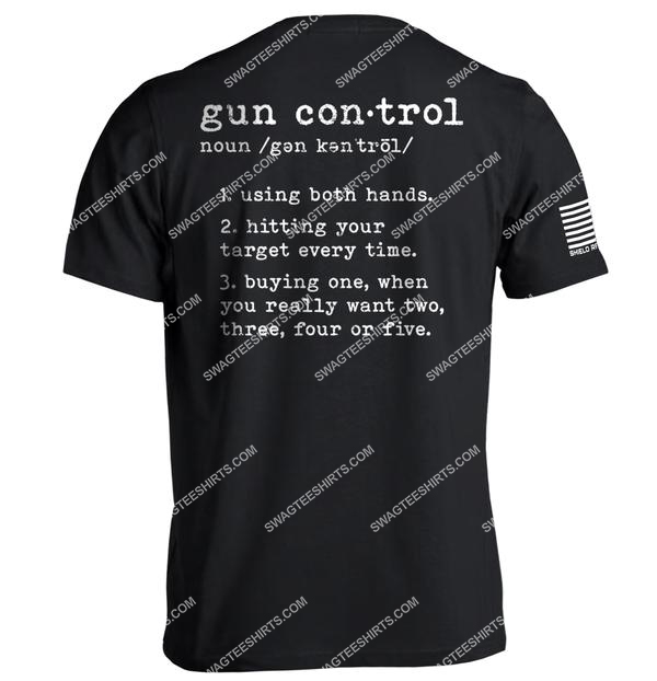 gun control definition political shirt 1