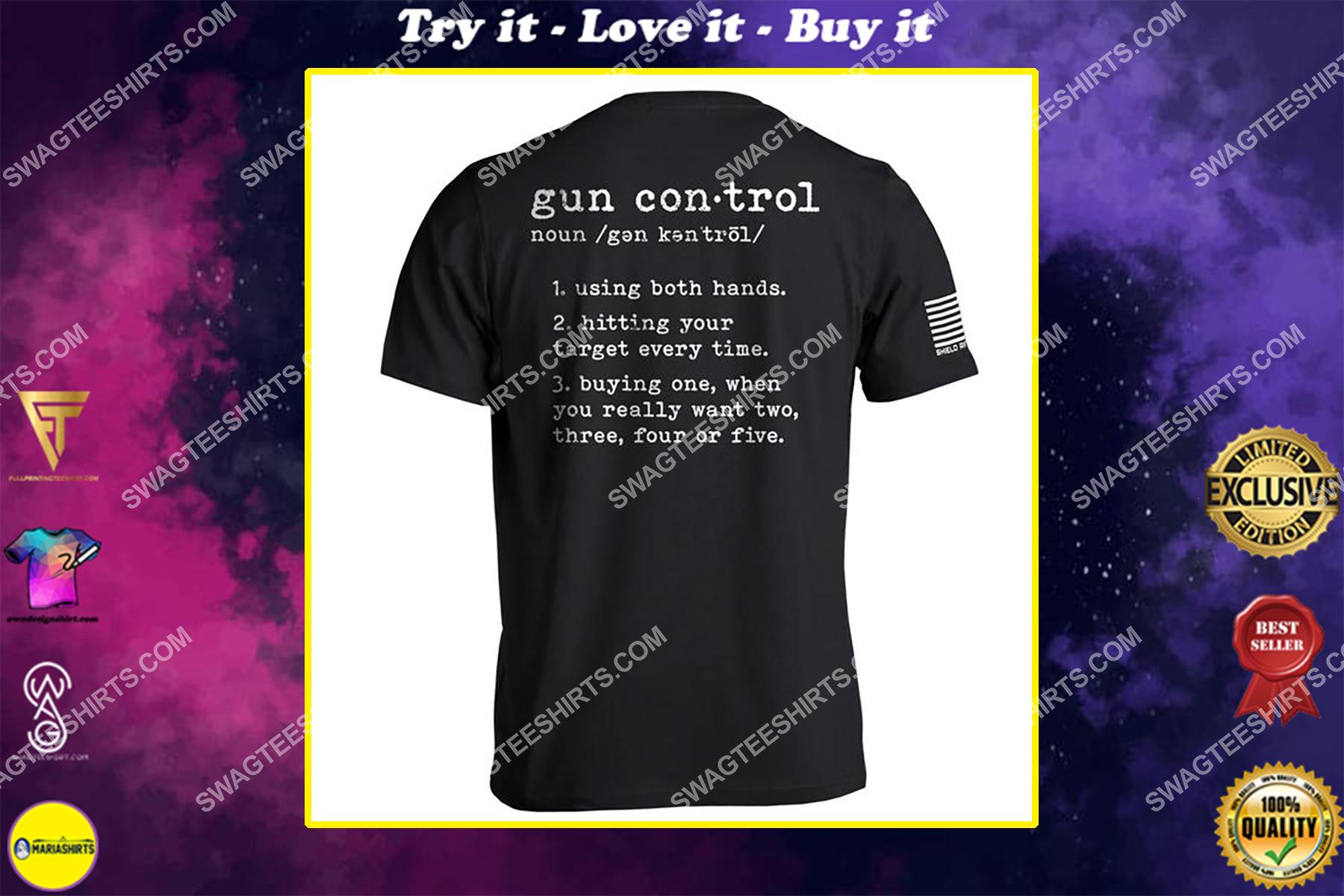 gun control definition political shirt