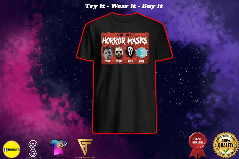 halloween a history of horror masks shirt