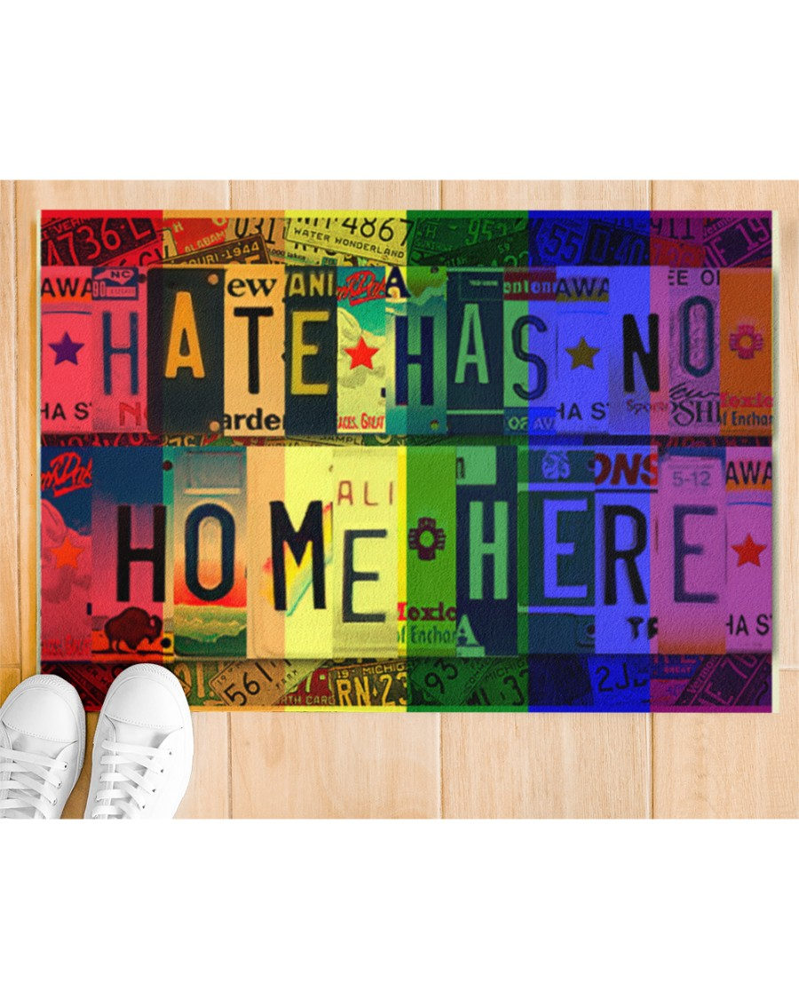 hate has no home here lgbt all over print doormat 2