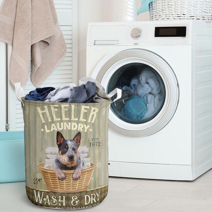 heeler dog all over printed laundry basket 2