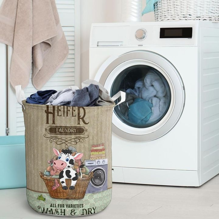 heifer wash and dry all over printed laundry basket 2