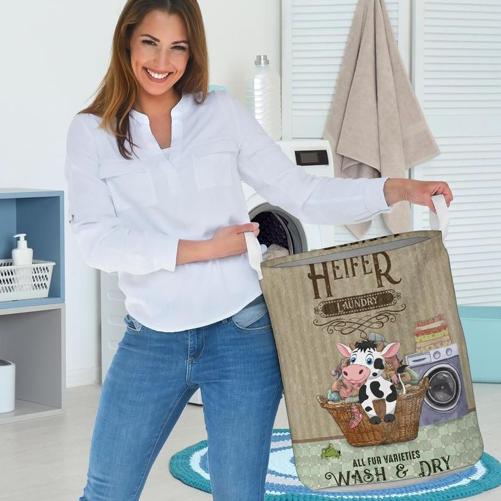 heifer wash and dry all over printed laundry basket 3