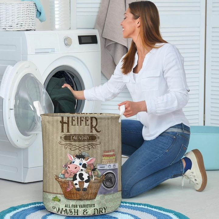 heifer wash and dry all over printed laundry basket 4