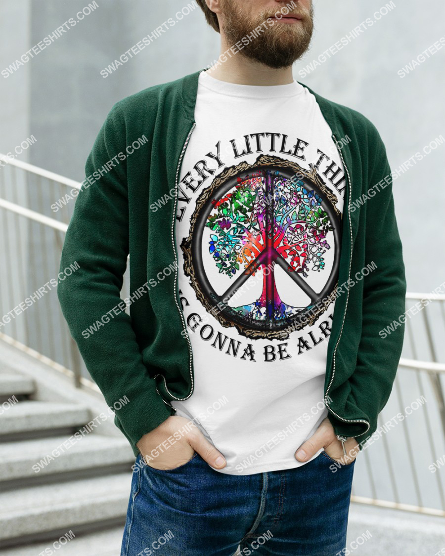 hippie every little thing is gonna be alright peace symbol shirt 2(1)