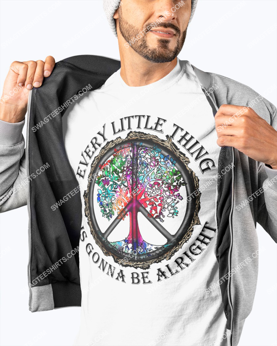 hippie every little thing is gonna be alright peace symbol shirt 3(1)
