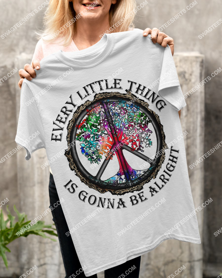 hippie every little thing is gonna be alright peace symbol shirt 4(1)