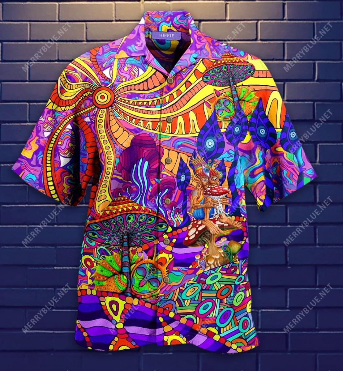 hippie is my life all over printed hawaiian shirt 2