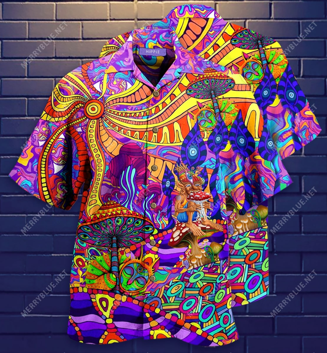 hippie is my life all over printed hawaiian shirt 3