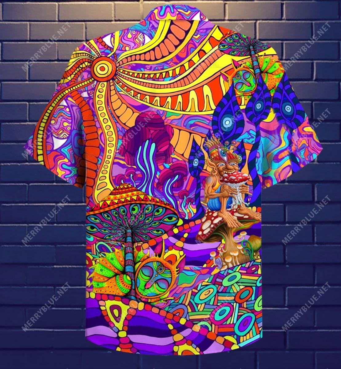 hippie is my life all over printed hawaiian shirt 4