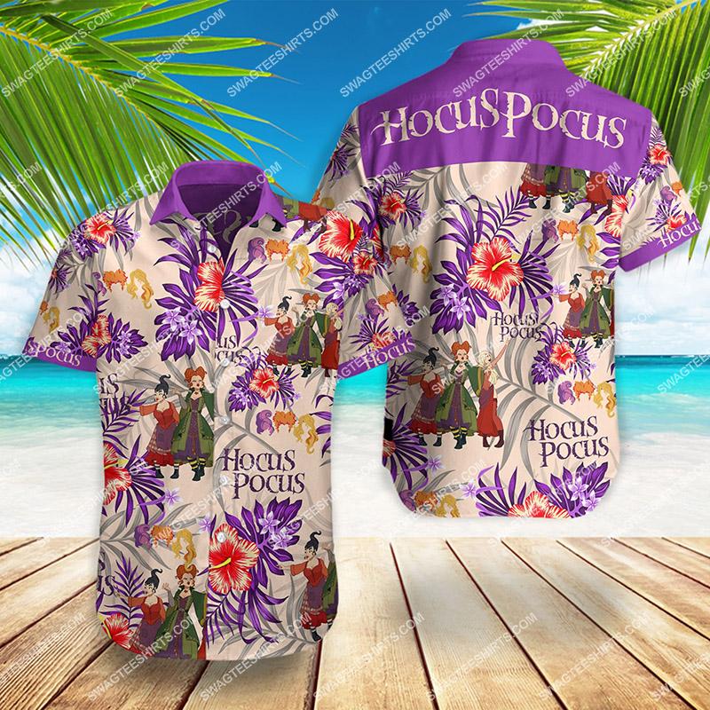 hocus pocus movie all over print hawaiian shirt 2