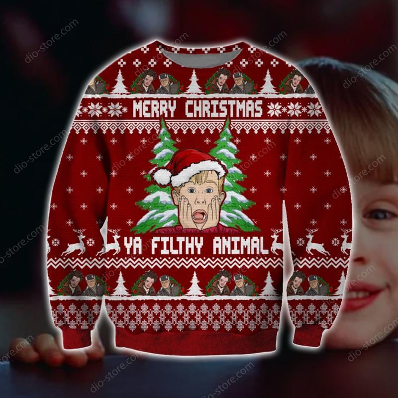 home alone ya filthy animal merry christmas ugly christmas sweater 2