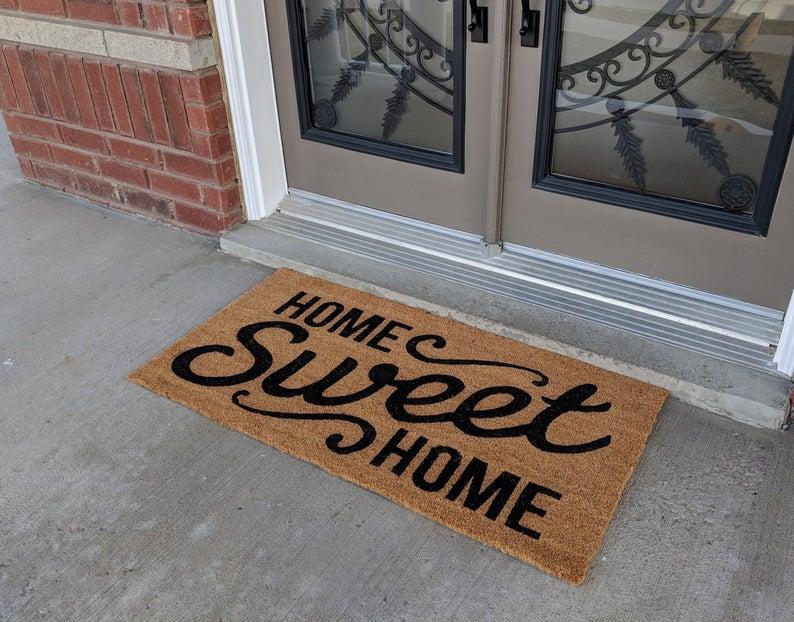 home sweet home all over print doormat 2