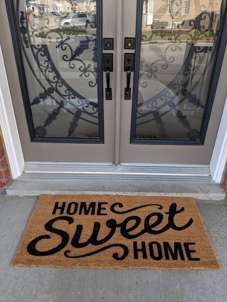 home sweet home all over print doormat 4