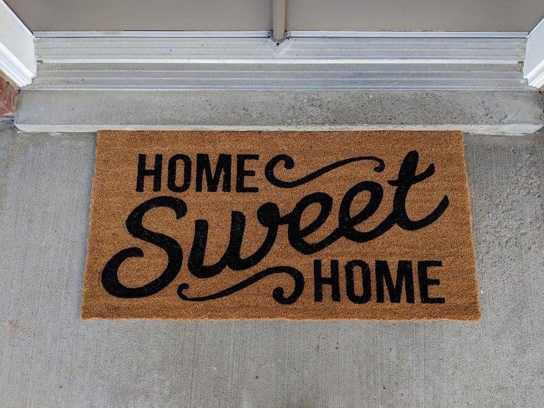home sweet home all over print doormat 5