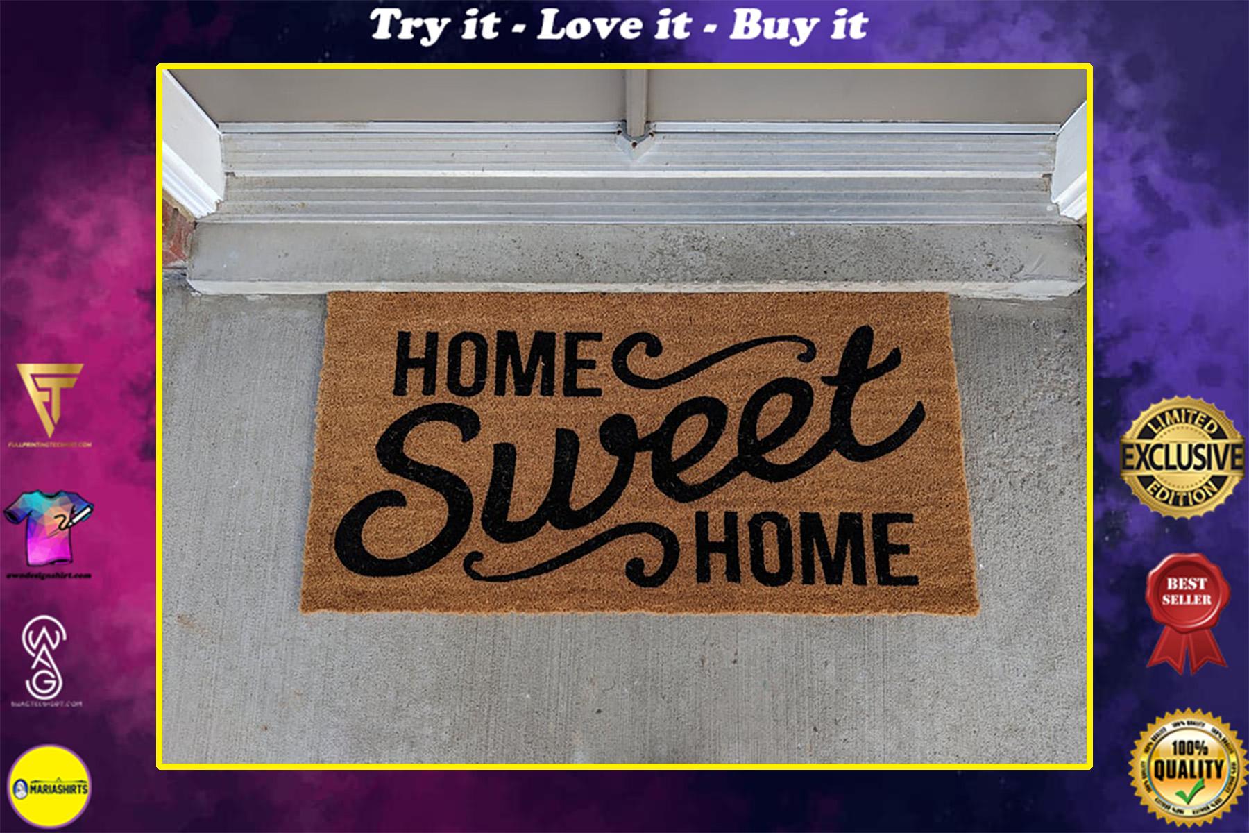 home sweet home all over print doormat