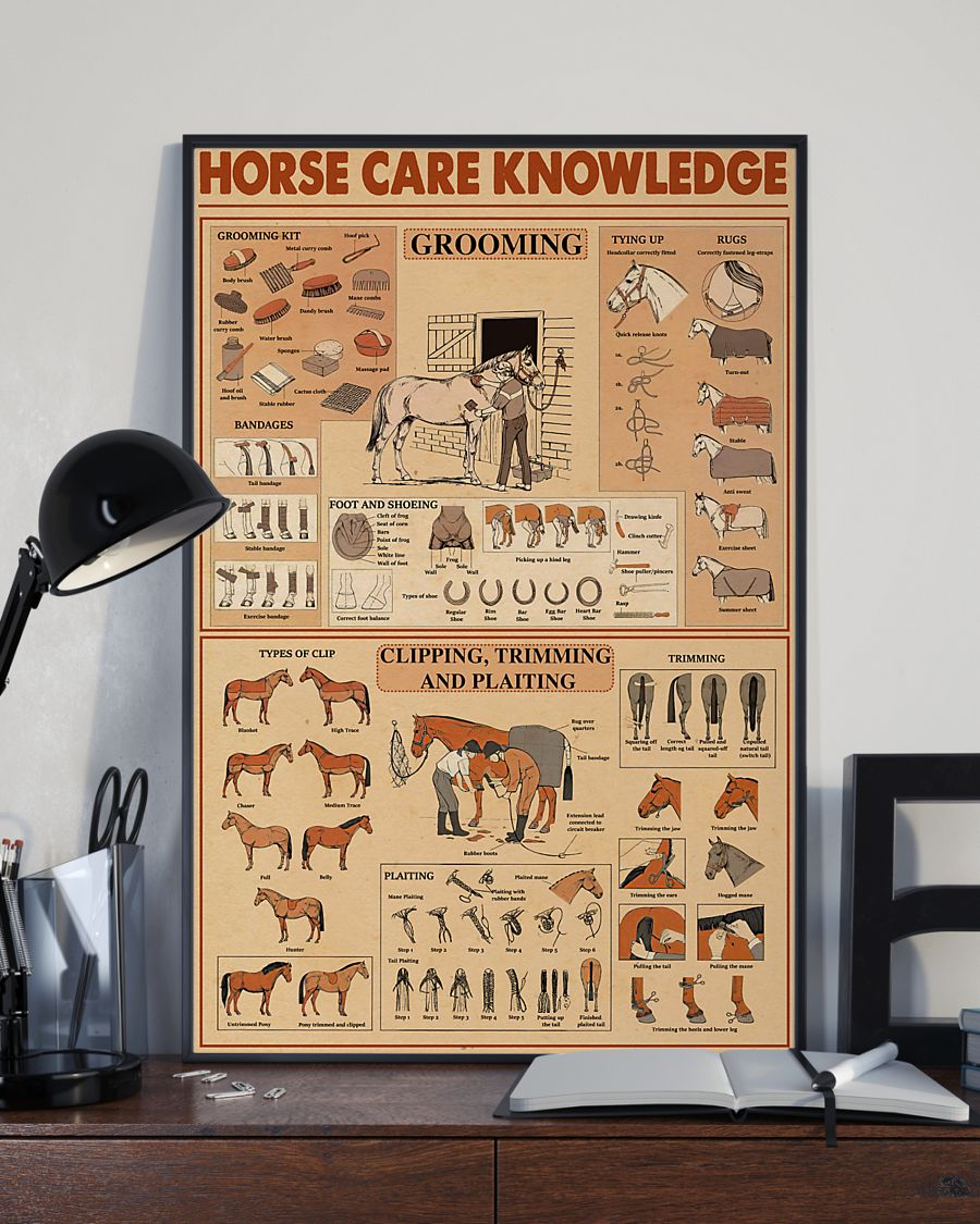 horse care knowledge vintage poster 2