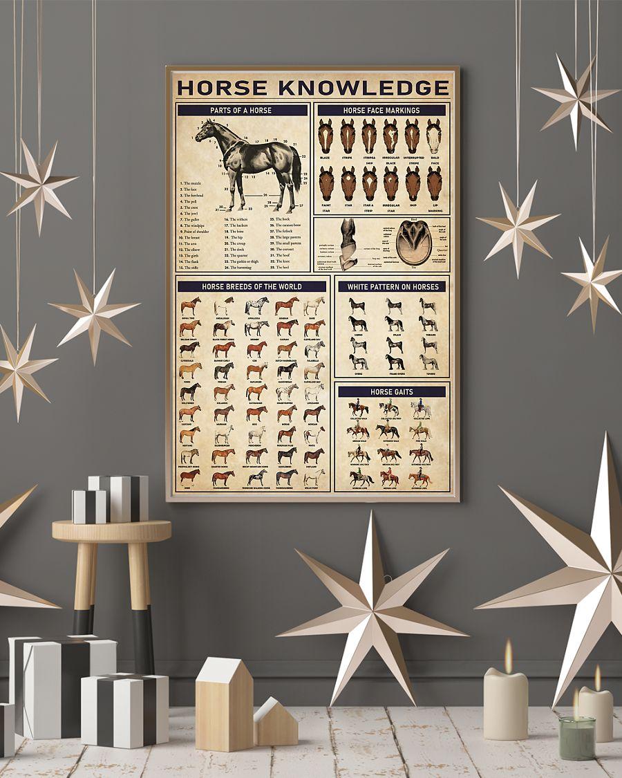 horse knowledge vintage poster 4