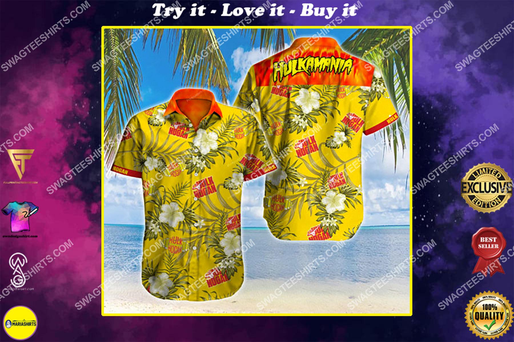 hulkamania hulk hogan all over print hawaiian shirt