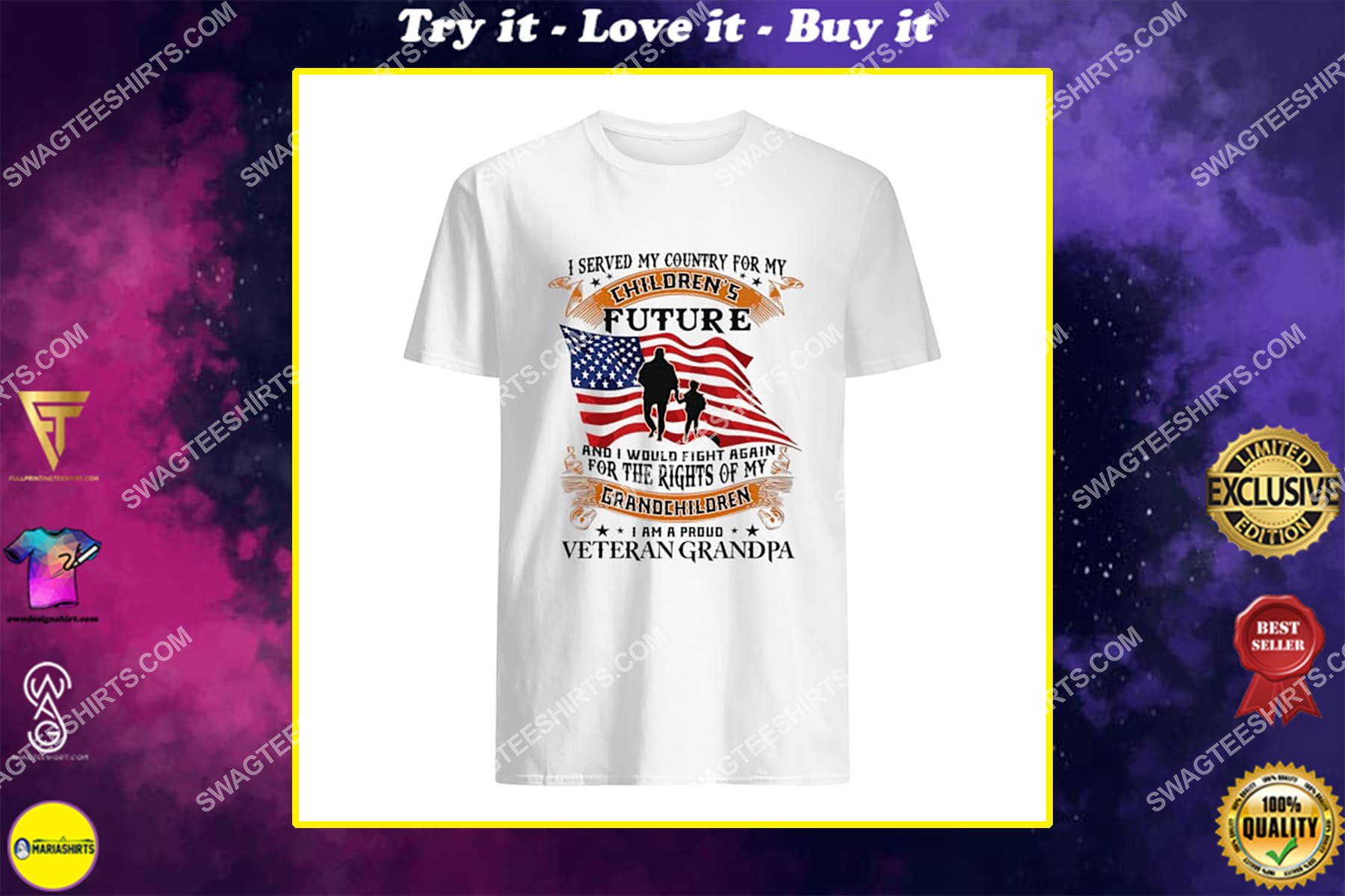 i served my country for my children's future and i'd fight again for the right of my grandchildren for memorial day shirt