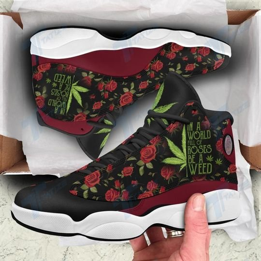 in a world full of rose be a weed all over printed air jordan 13 sneakers 2