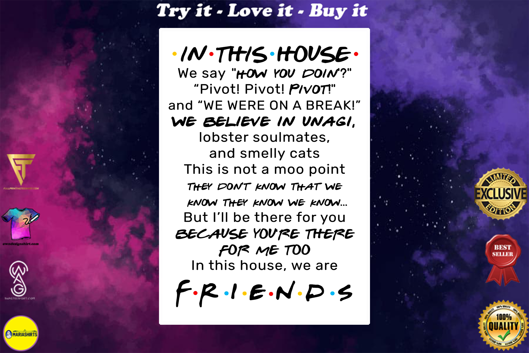 in this house we are friends poster
