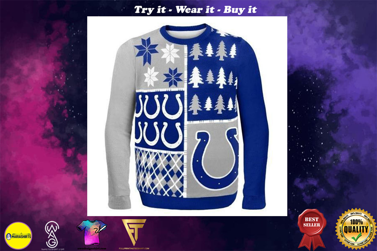 indianapolis colts ugly christmas sweater