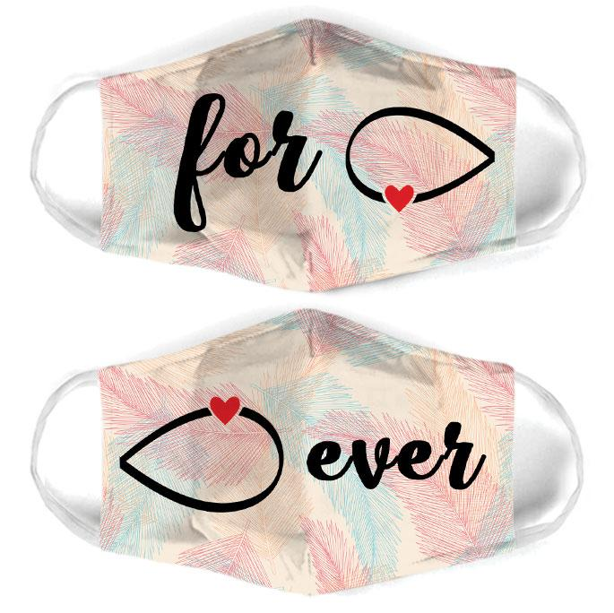 infinity symbol couple love all over print face mask 2