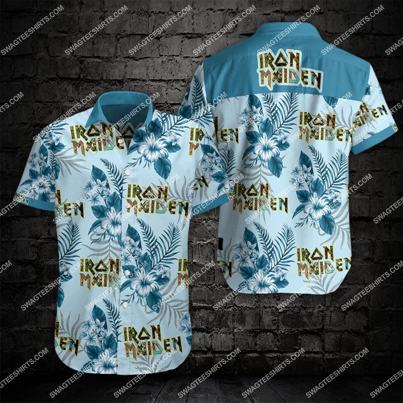 iron maiden band all over print hawaiian shirt 2