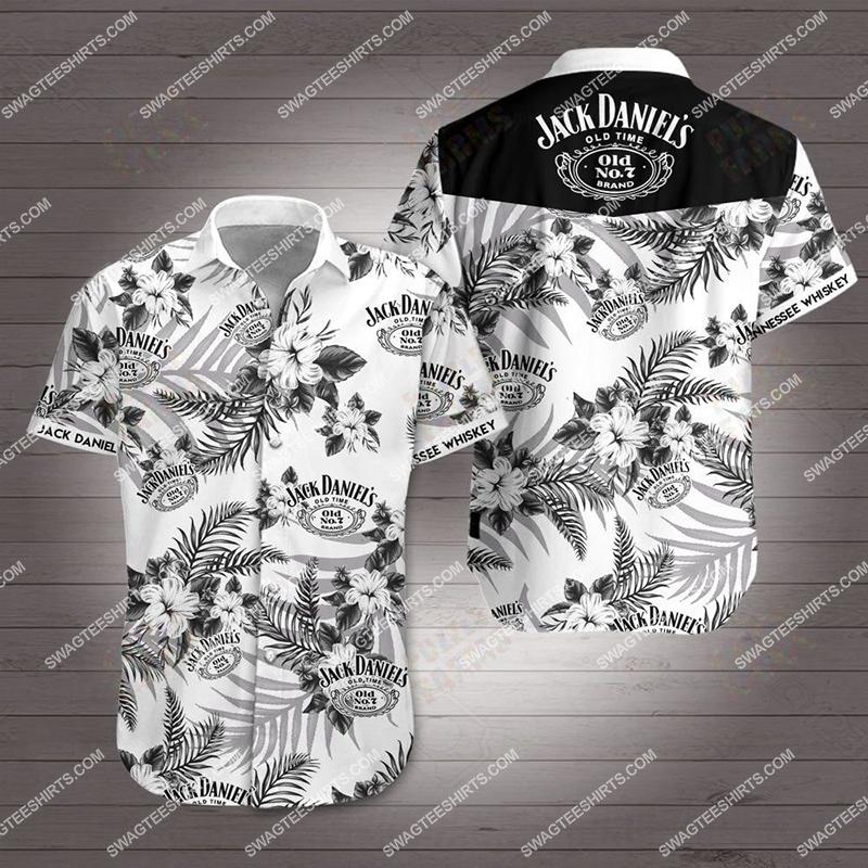 jack daniels old time all over print hawaiian shirt 2