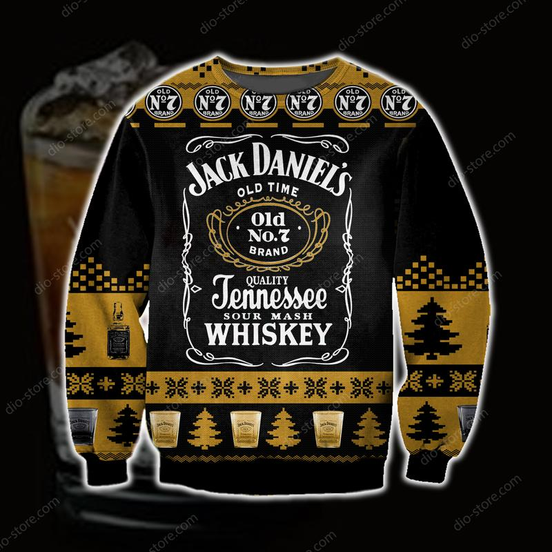 jack daniels tennessee whiskey full printing ugly christmas sweater 2