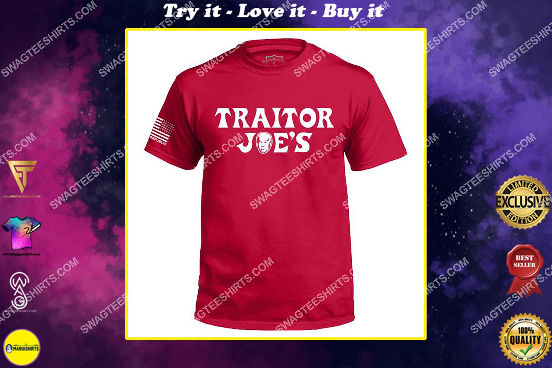 joe biden traitor joe's political full print shirt