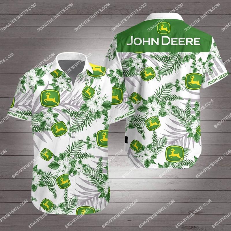 john deere all over print hawaiian shirt 2