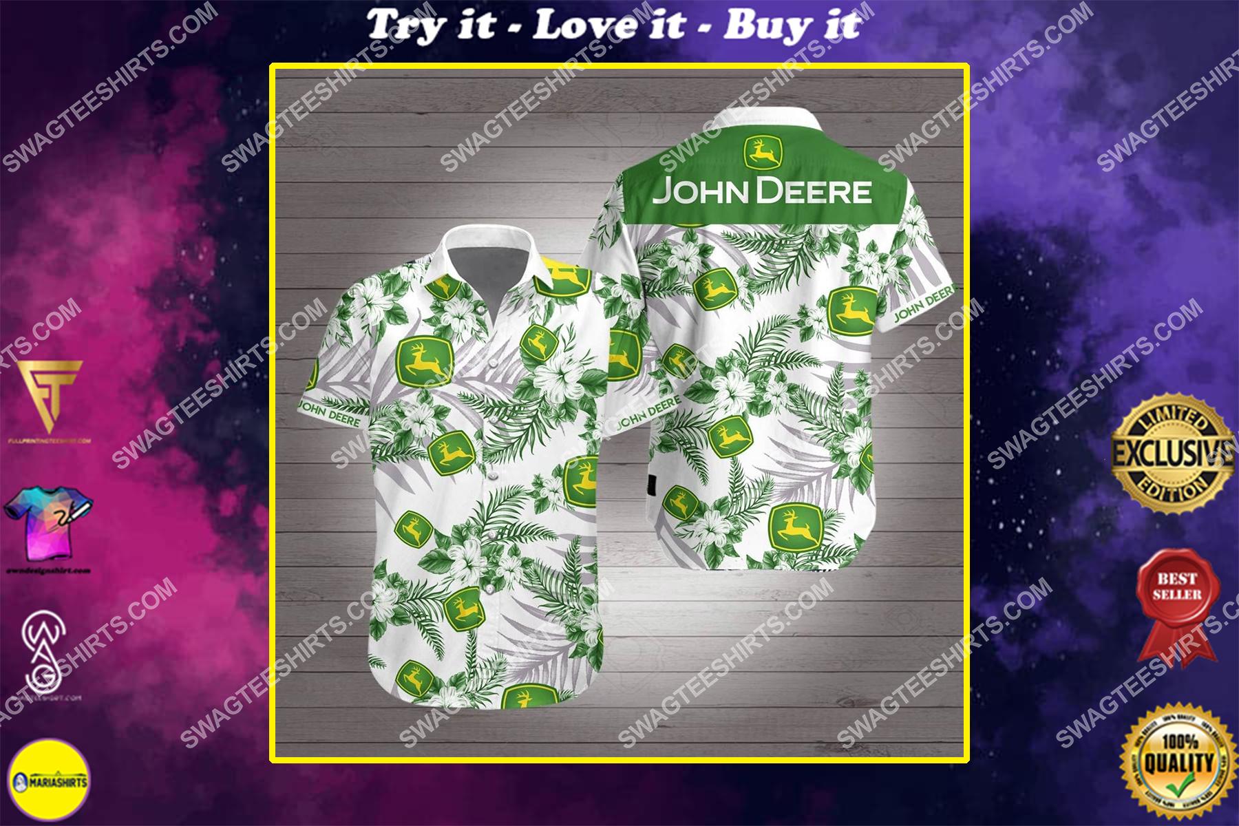 john deere all over print hawaiian shirt