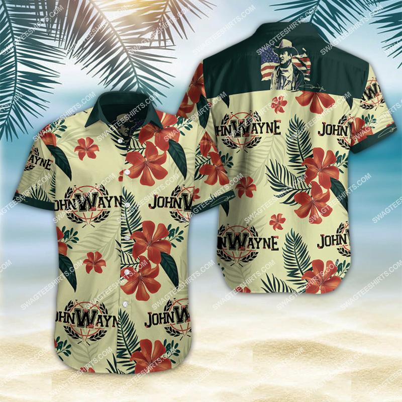 john wayne all over print hawaiian shirt 2
