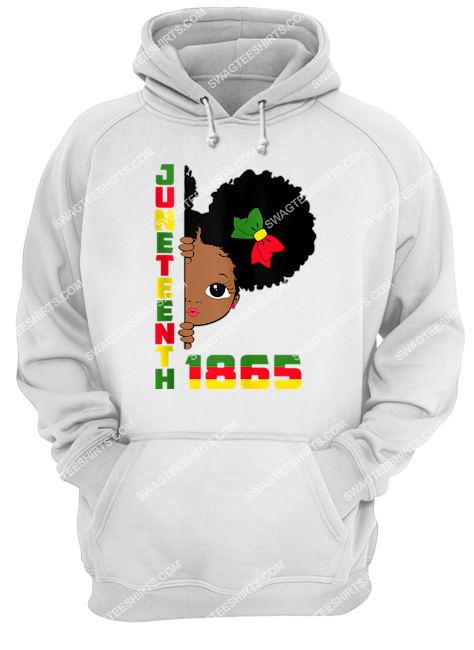 juneteenth celebrating 1865 cute black girls black lives matter hoodie 1
