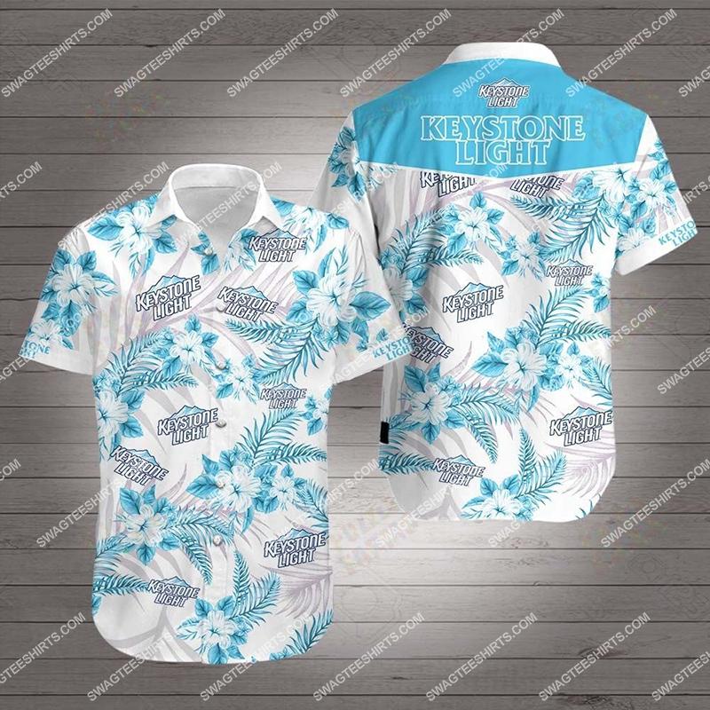 keystone light all over print hawaiian shirt 2