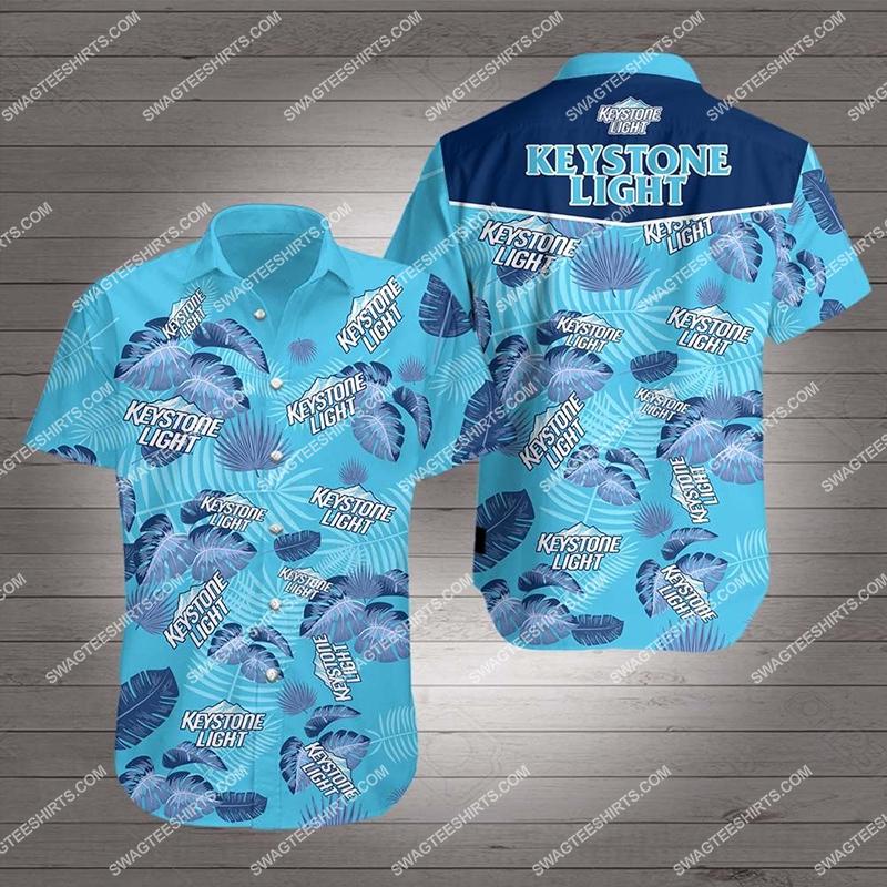 keystone light beer all over print hawaiian shirt - Copy