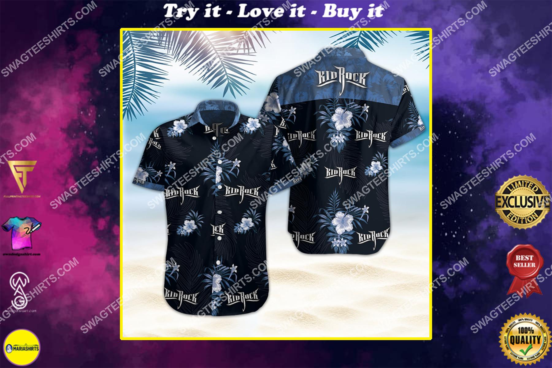 kid rock band all over print hawaiian shirt