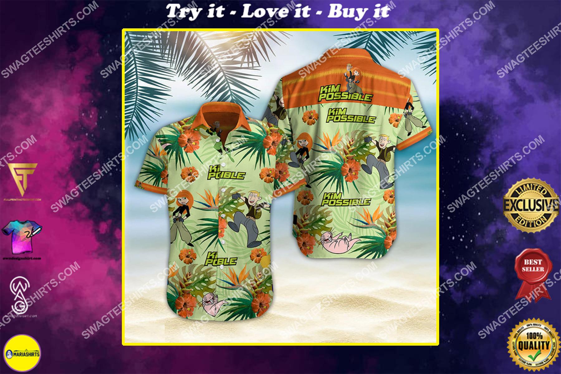 kim possible movie all over print hawaiian shirt