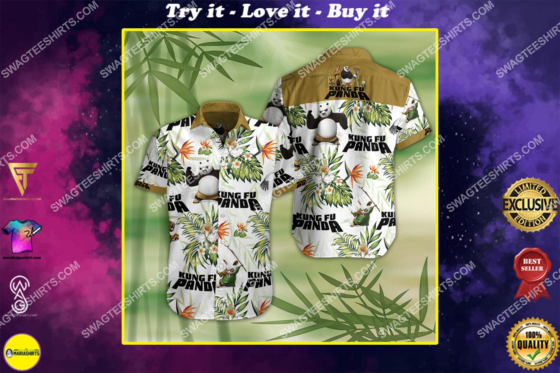 kung fu panda movie all over print hawaiian shirt