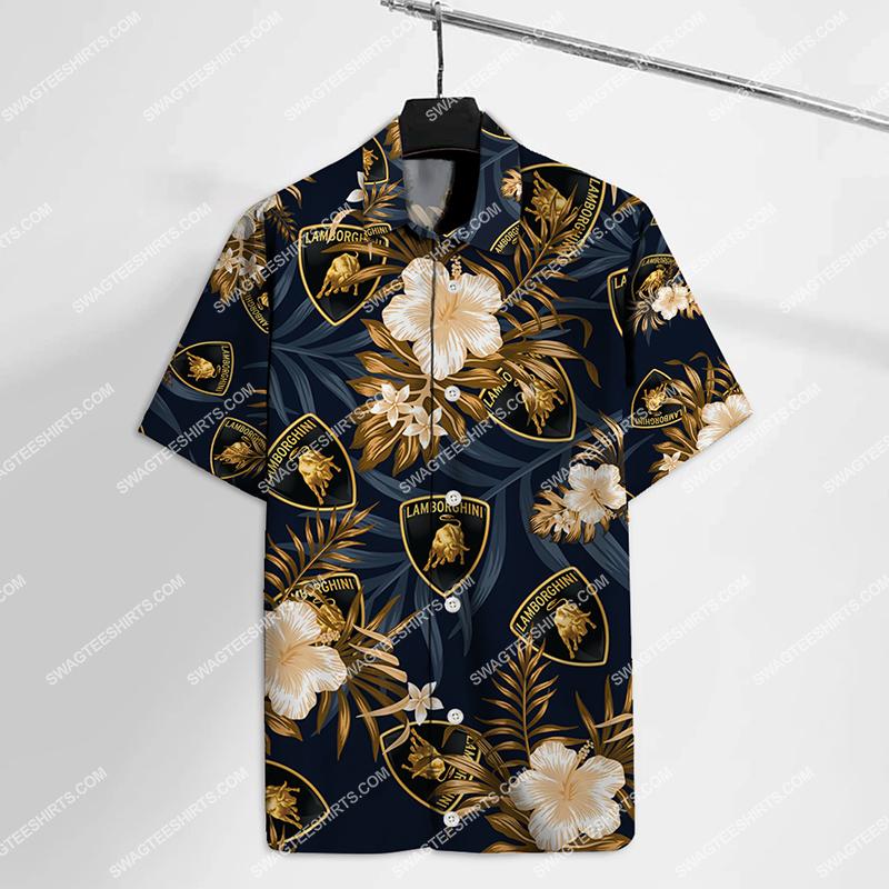 lamborghini car all over print hawaiian shirt 2