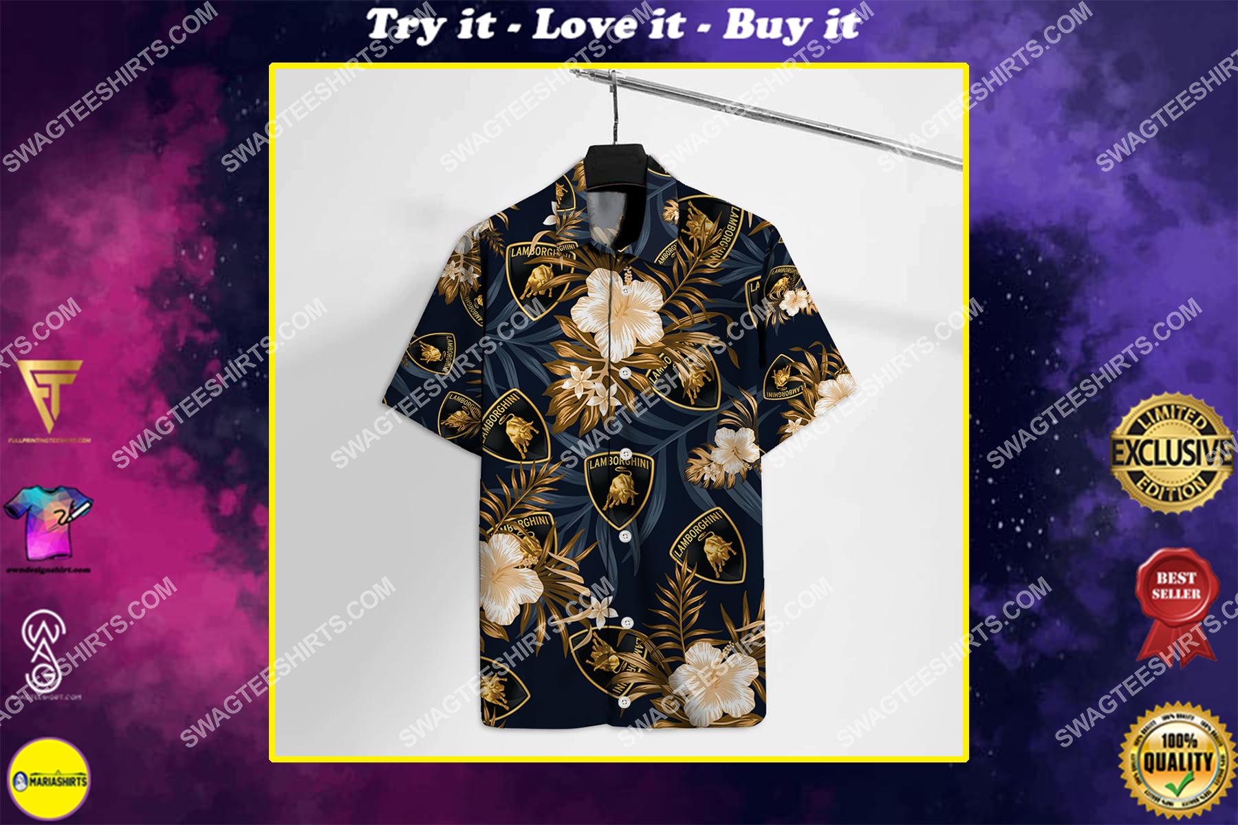 lamborghini car all over print hawaiian shirt