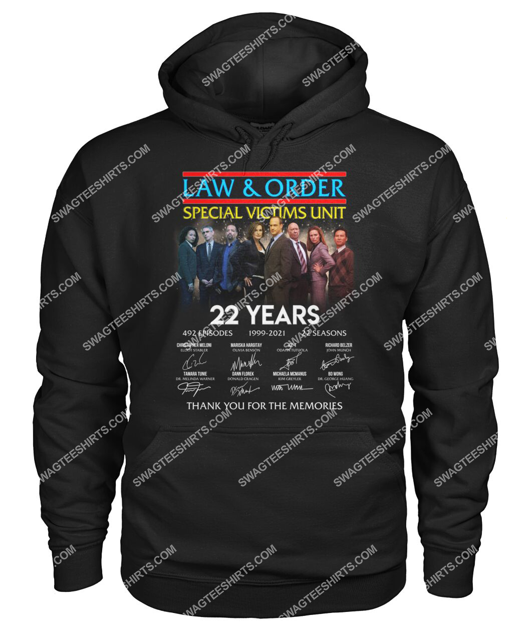 law and order 22 years thank you for memories signature hoodie 1