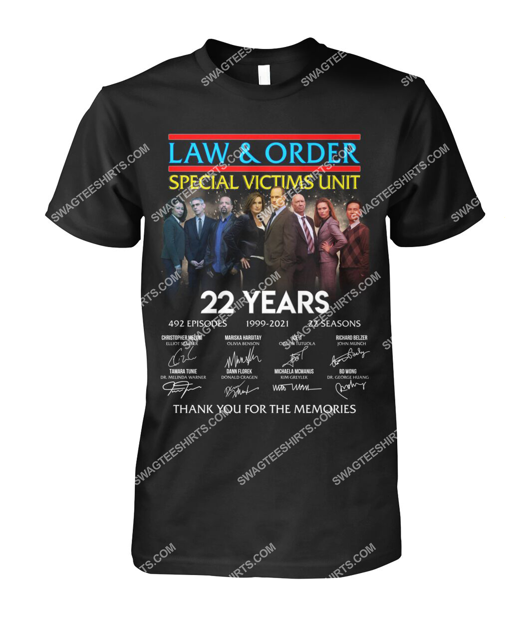 law and order 22 years thank you for memories signature tshirt 1