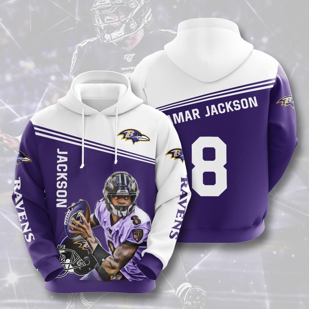 legend lamar jackson baltimore ravens 8 full over printed hoodie
