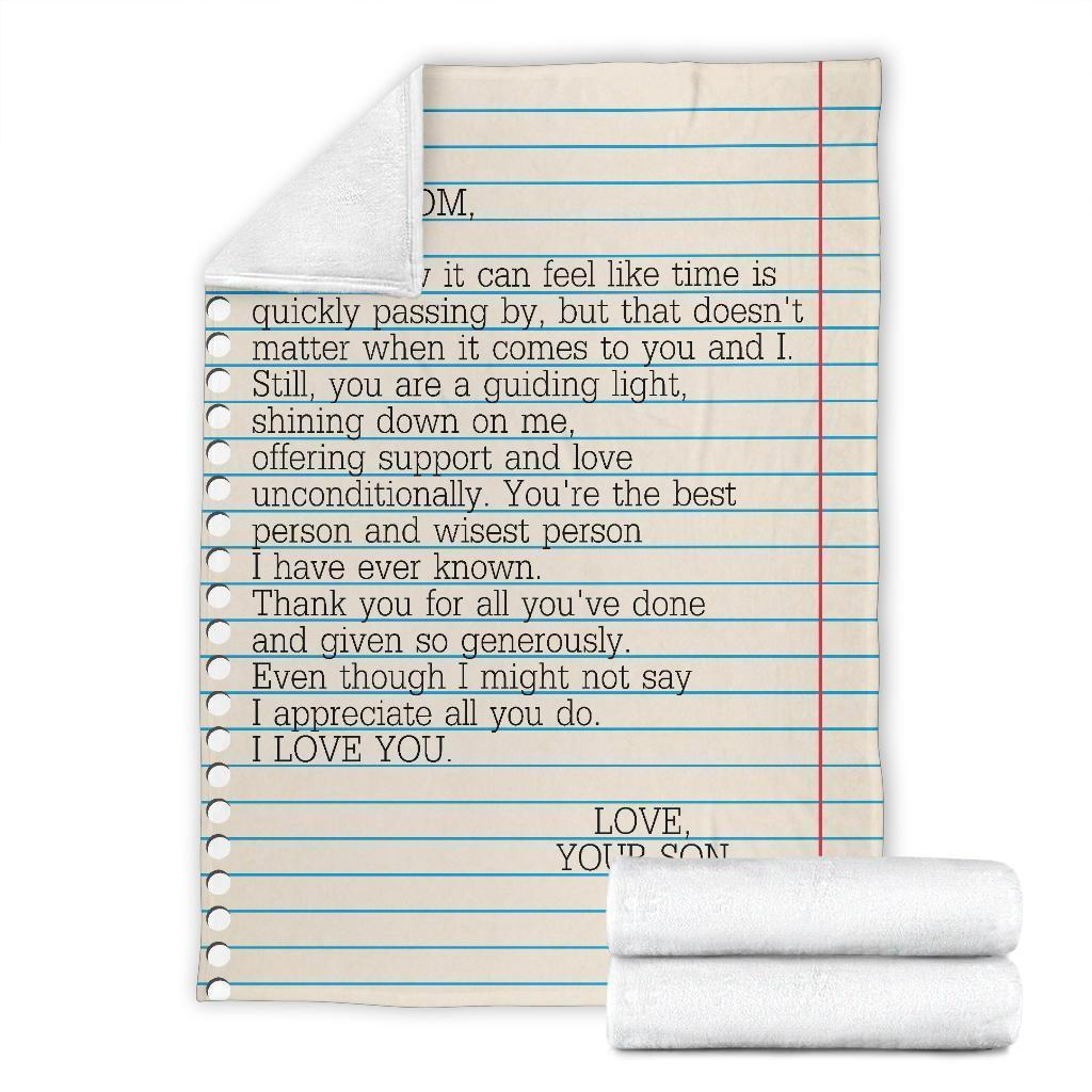 letter to my mom i love you love your son full printing blanket 5